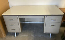 Vintage All Steel Equipment Tanker Desk Mid Century