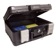 Fireproof & Waterproof Deed Security Box Safe Accepts A4 Unfolded Fire Resistant