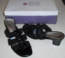 """Mootsies Tootsies Moavrile Sandals  w/2.3"""" Heel  Black Synthetic Sz. 7 1/2 M"""