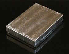 "COTTON FILLED 6 JEWELRY GIFT BOXES SILVER 5 3/8"" X 3 7/8"" X 1"""
