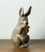 Vintage Royal Copenhagen Denmark Gray Sitting Rabbit 1019 Porcelain Figurine #2