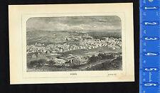 HEBRON, World's Oldest Jewish Community - 1872 Biblical History Print