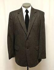 mens brown black herringbone STAFFORD jacket TWEED wool sport suit coat 44 L