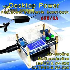 High Power Adjustable Buck Boost Power Supply Module With Display Housing L2ke