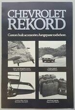 1979 Chevrolet Rekord accessories original sales brochure
