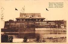 "Belgium Expo Internationale Anvers 1930 Antwerpen, Restaurant ""The King George"""