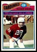 1977 Topps #290 Roger Wehrli HOF NRMT St. Louis Cardinals / Missouri Tigers