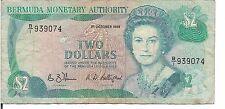 BERMUDA,$2, QEII,P#34a, 1988