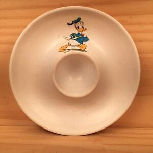 "DONALD DUCK ""White"" Vintage Children's Egg Cup Cute Cartoon Themed Egg Holder"