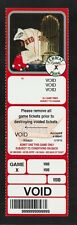 2005 Boston Red Sox Voided Full Ticket With World Series Trophy     ac