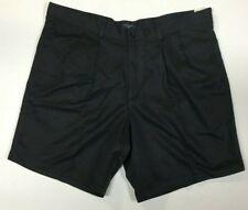 Dockers Pleat Front Shorts - Sz 42 - BLACK Microfiber - NWT