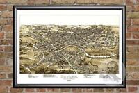 Vintage Butler, PA Map 1896 - Historic Pennsylvania Art Old Victorian Industrial