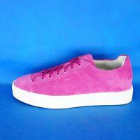 Santoni Damen Schuhe Low Top Sneaker Sportschuhe Wildleder Leder Pink Np 329 Neu