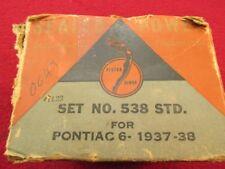NOS 37 38 PONTIAC TORPEDO PLUS ALL 6 CLYINDER PISTON RINGS SET