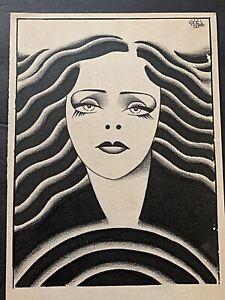 c1930 Joe Grant Disney Artist Original Art Dramatic Woman