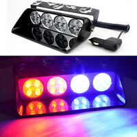 16 LED Car Emergency Strobe Light Windshield Beacon Hazard Warning Flashing Lamp