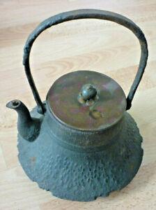 Tee Kanne, Teekessel, antiker Japanische Kanji, Alte Tetsubin, Chagama(Art.5270)