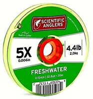 Scientific Anglers Clear 5x (4.4 lb) Tippet Material with Built-In Line Cutter