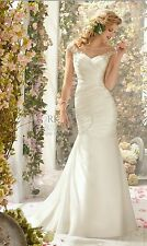 New Mori Lee Voyage Wedding Dress, Sz 16 with Satin Wrap & Garement Bag