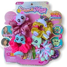 Scrunchmiez 4 Pack Plush Scrunchies Collectible Toy NWT Dorbsies Gold Scrunchy