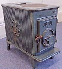 Vintage Jotul Enameled Woodburning Stove Woodburner 602 Art Deco Multi Fuel Used