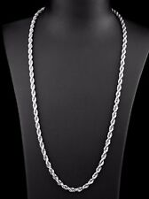 """20"""" 5mm Stainless Steel Twisted Rope Chain Pendant Silver Tn Necklace STT5S"""