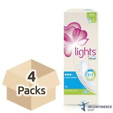 4x Lights by TENA - Long Liners Scented - Pack of 18 - Pads For Women 108ml