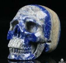 "2.0"" Lapis Lazuli Carved Crystal Skull, Realistic, Crystal Healing"