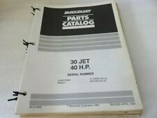 Pm80 1975 Quicksilver 30 Jet 40 Hp Parts Catalog Manual P/N 90-814698