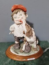 "Giuseppe Armani Figurine Sculpture Gullivers World - Dog and Boy 8.5""x 7.25"""