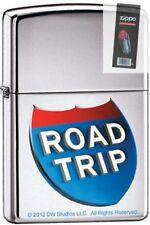 Zippo 9232 road trip movie high polish chrome Lighter + FLINT PACK