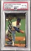 Nolan Ryan Rare 1995 Assets Gold $1000 Phone Card Sample PSA 6 MLB HOF