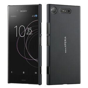 Roxfit Sony Xperia XZ1 Ultra Slim Soft Touch Shell Case Black Hard Back Cover
