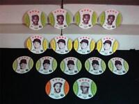 1976 MSA Discs, Orbaker's Potato Chips (15 discs), Garvey, Stargell & Yaz