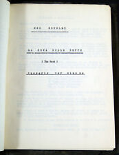 sceneggiatura per film LA CENA DELLE BEFFE di Sem Benelli registrata nel 1948