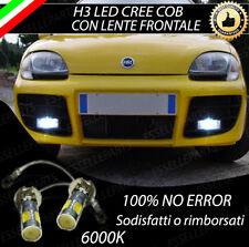 LAMPADE FENDINEBBIA H3 LED CREE COB CANBUS FIAT SEICENTO 6000K NO ERRORE