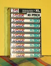 Vintage Laser 90 XL Plus Normal Bias Cassette Tapes Swire SEALED 1991 (10 pack)
