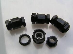 Glándula de Cable m25 negro con las tuercas ip66 clasificado