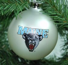 Maine Black Bears NCAA Sports Collector Series Glass Holiday Ornament