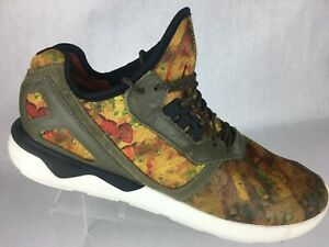 Adidas Tubular BHM Leaf Running Athletic Multi Color Yellow Shoes D68976 Mens 14
