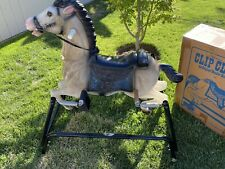 Vintage Wonder Spring Rocking Horse With Sound Box Clip Closely Model 7245