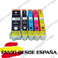 5 CARTUCHOS DE TINTA COMPATIBLE NON OEM PARA EPSON XP 645 %7c XP 900 T33