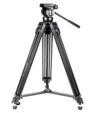 Kingjoy Video 155cm 3-Section Pro Aluminium Tripod w/ Fluid Pan Tilt Video Head