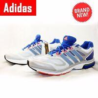 ADIDAS Mens Trainers Supernova Sequence 6 White Blue Running UK16 UK17 UK18 UK19