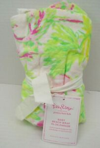 Pottery Barn Kids Lilly Pulitzer Jungle Baby Beach Hooded Towel Green #9791