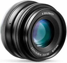 Obiettivo 50mm F/2.0 per Mirrorless Sony-E (a6000, a6300, ecc...) - CRAPHY 50mm
