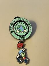 Disney 2002 Cast Exclusive-Environmentalit y -Jiminy Cricket Dangle Le Pin-Pins