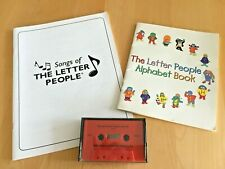 Lot of 3: SONGS OF THE LETTER PEOPLE / ALPHABET BOOK/ AND A CASSETTE TAPE w/ FS