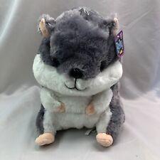New listing New Belly Buddy Xlarge Hamster Plush Grey/White Toy Nanco Soft 13� Gray