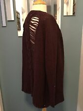 NWOT Free People Ragged Back Open Front Cardigan Sweater Size XS